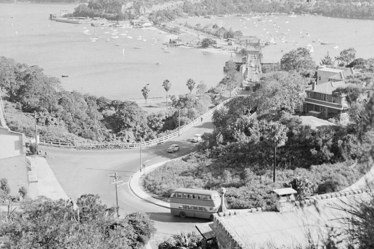 Spit Bridge at Middle Harbour,in northern Sydney in 1936.