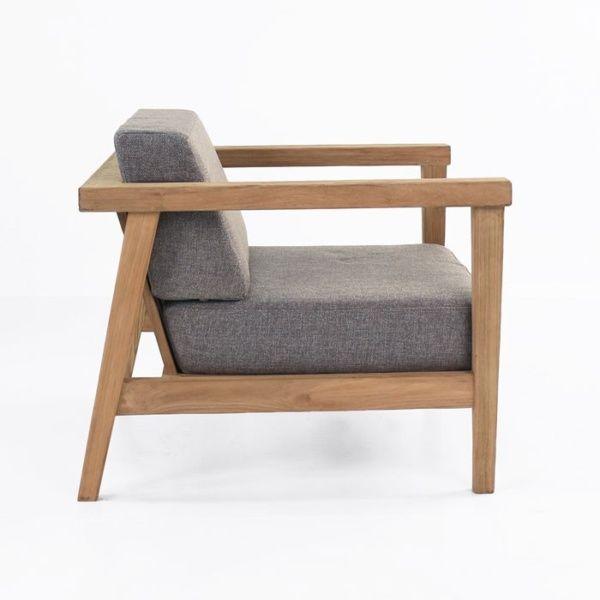 Reclaimed Teak Chair Side View Scandinavian Furniture Design Furniture Club Chairs
