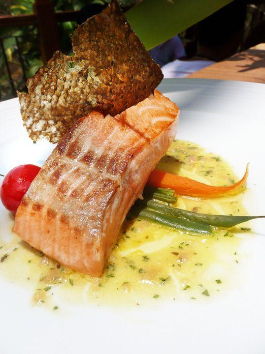 Tasmanian salmon at the Rondji Restaurant, Ubud, Bali. Photo by Intan Tanjung