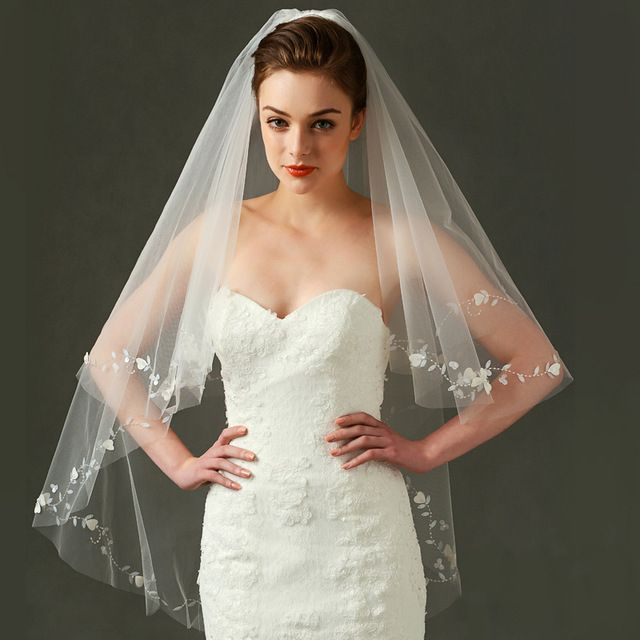 2016 New Arrival Simple Cheap white Ivory Wedding veil One Layer Hand Beaded Flower Bridal Short Veil with Comb Bridal Veils https://www.aliexpress.com/store/product/2016-New-Arrival-Simple-Cheap-white-Ivory-Wedding-veil-One-Layer-Hand-Beaded-Flower-Bridal-Short/1526574_32730715041.html
