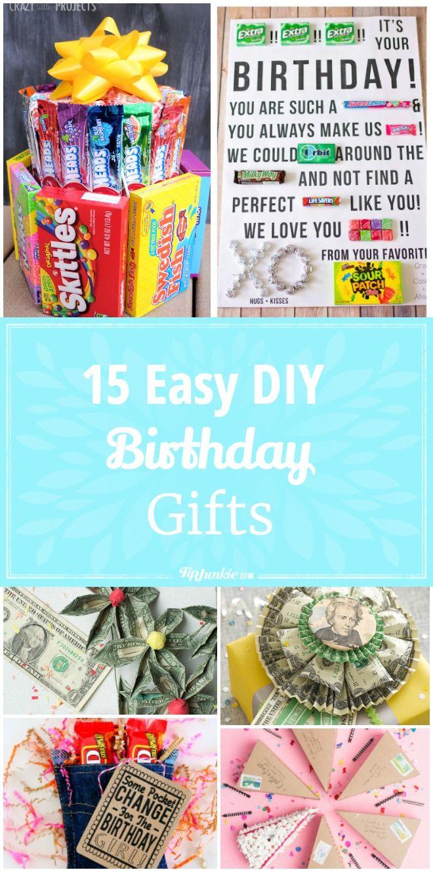 15 Easy Diy Birthday Gifts Diy Birthday Birthday Gifts