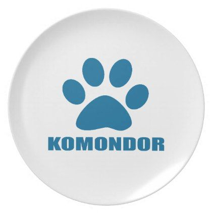 Komondor Dog Designs Melamine Plate Kitchen Gifts Diy