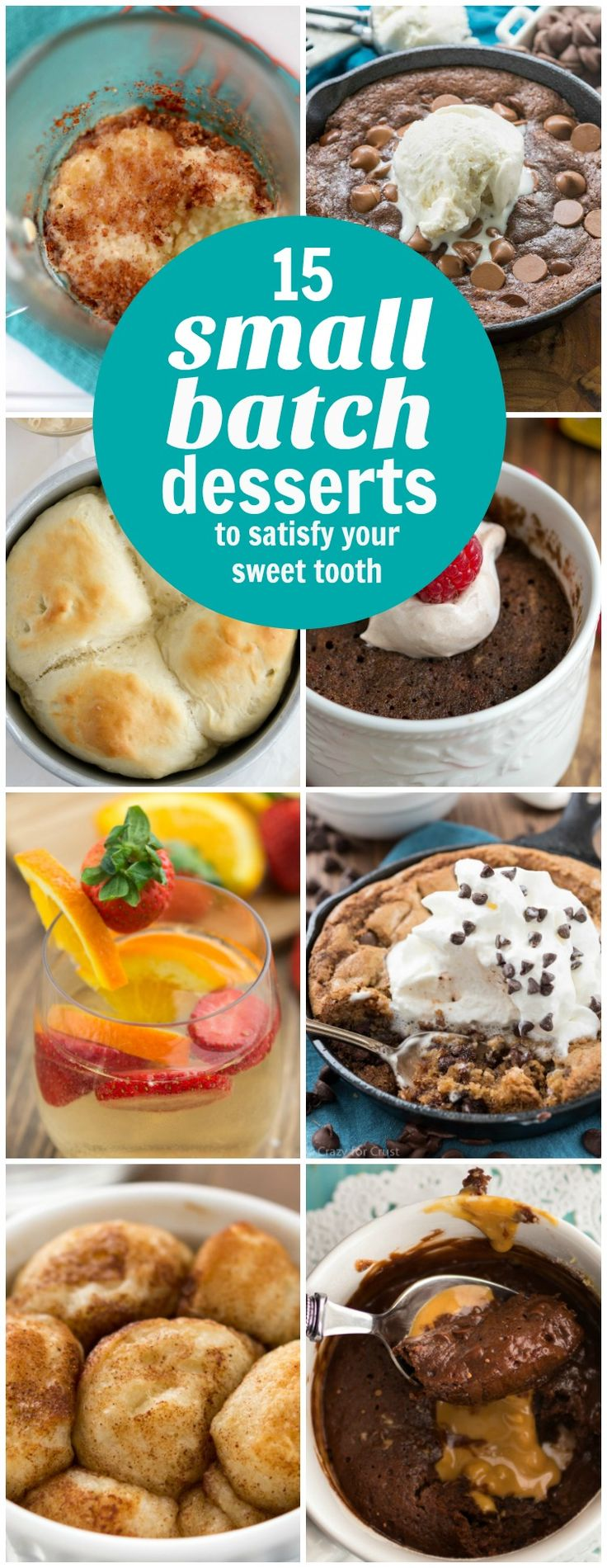 Small Batch Dessert Recipes to satisfy your sweet tooth in a BIG WAY. Cookies, cake, brownies, sangria, monkey bread...everything in single-serve size!