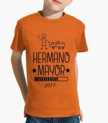 Camiseta Hermano Mayor 2017 naranja
