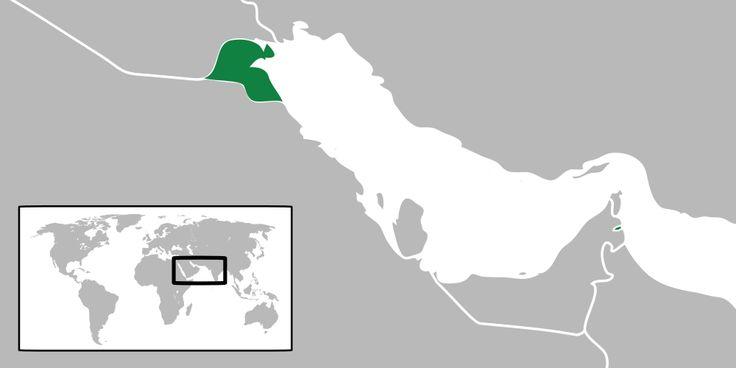 Localização Estado do Kuwait // Map of Kuwait ◆Kuwait – Wikipédia http://pt.wikipedia.org/wiki/Kuwait #Kuwait