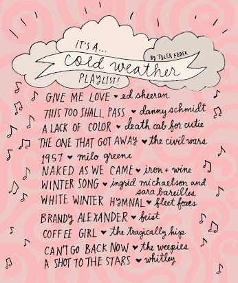 cold weather playlist <3