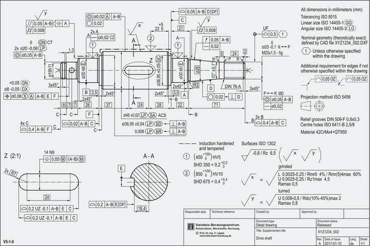 Erstellung Normgerechter Technischer Zeichnungen In 2020