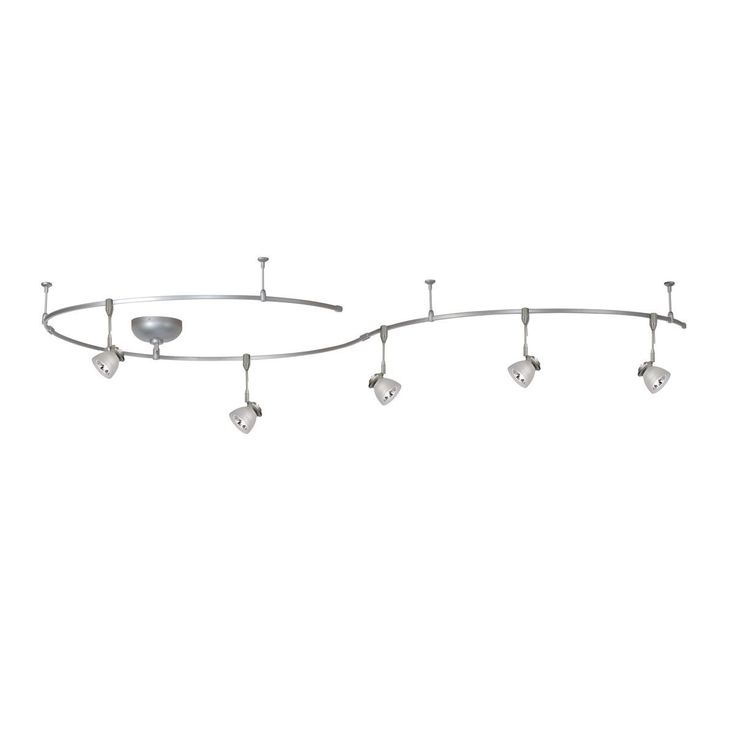 Contemporary Living Room Light, Overstock, Offering a fresh approach to creating a simple flexible rail system for any room, choose from five different rail and fixture combinations with the Solorail 5 Light Kit featuring over 10 feet of rail, as well as power supply and mounting components.