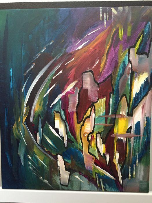 Peinture Abstraite Creation Signee Mary Fjr Peinture Acrylique