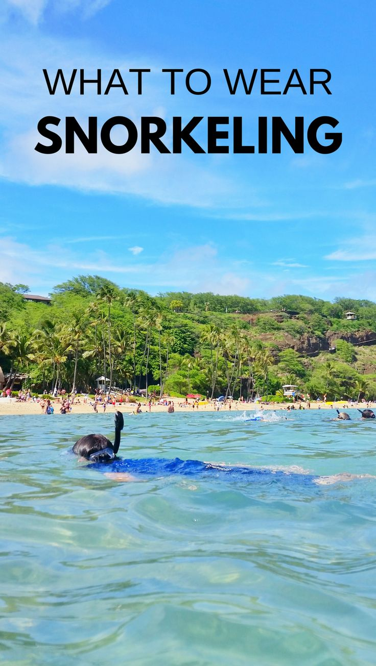 Snorkeling tips for beginners when beach vacation has best snorkeling spots in Oahu on Hawaii vacation, on Caribbean cruise to Cozumel Mexico, Key West, Key Largo, Florida Keys, other top snorkeling destination in USA, world! What to wear snorkeling, travel tips for best snorkel gear to put on travel packing list. UV sun protection with rash guards and board shorts. Snorkeling after hike sounds like perfect day itinerary... #hawaii #oahu #maui #kauai #bigisland #cruise #cruisetips
