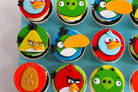 Celebrate with Cake!: Angry Birds Cupcakes