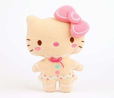 "Hello Kitty 7.5"" Flat Plush: Gingerbread"