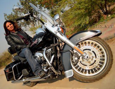 When we shot with Harley Davidson 'she' biker Ambika Sharma...