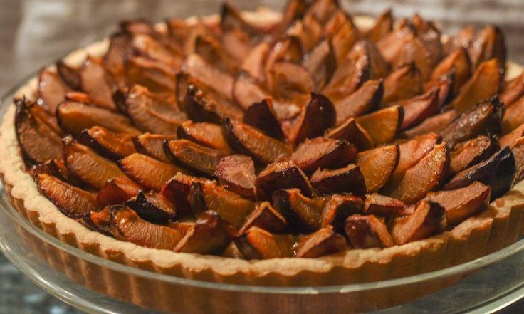 Fresh Plum Frangipane Tart by Tami of The Weiser Kitchen #plumtart # ...