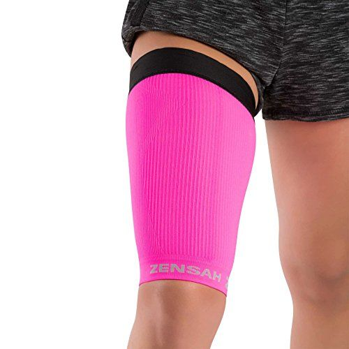 Zensah-Thigh-Compression-Sleeve-Treat-Hamstring-and-Quad-Injuries-Hamstring-Compression-Sleeve-Running-Compression-Thigh-Sleeve-Perfect-for-Running-Tennis-Working-Out-Basketball-Reduce-Cramping