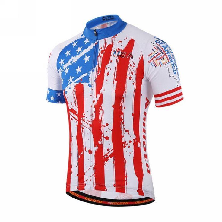 American Flag Statue of Liberty USA Cycling Jersey