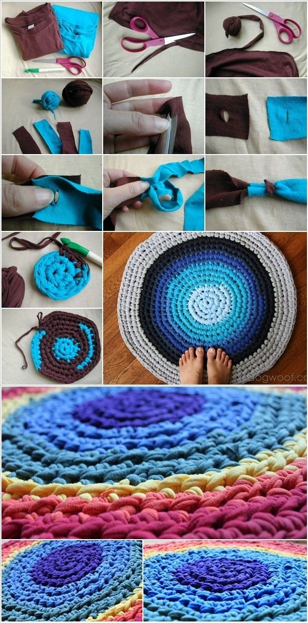 Reuse Old T-shirts To Create A Braided Rug – DIY