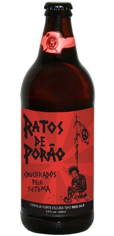 Cerveja Ratos de Porão Crucificados Pelo Sistema, estilo Irish Red Ale, produzida por Cervejaria Dortmund, Brasil. 6% ABV de álcool.