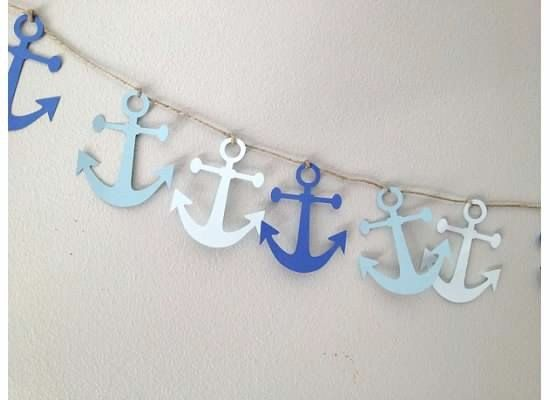 Paper Garland Anchors Party Decor Nautical Photo by YellowBeeMine, $6.00