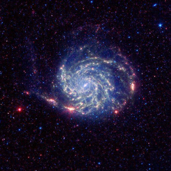 No Organics Zone Circles Pinwheel Galaxy - NASA Spitzer Space Telescope