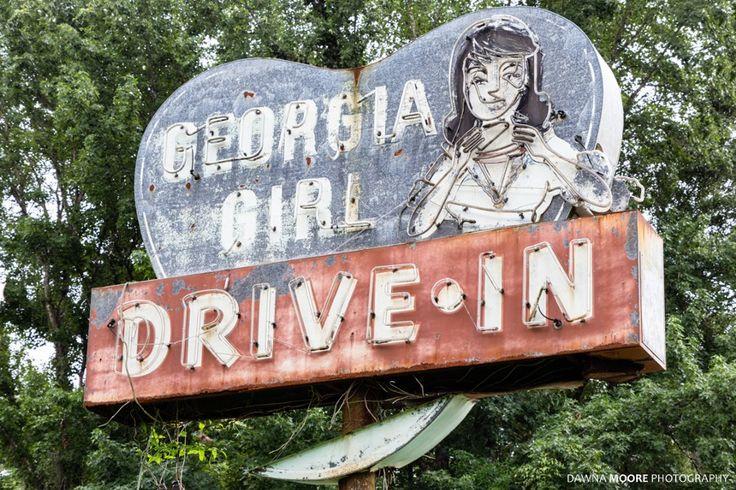 Georgia Girl Drive-In Sign, U.S. Hwy 17, Woodbine, Georgia