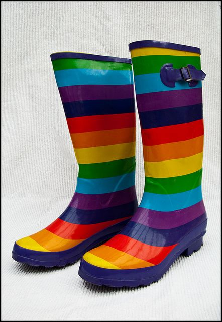 Rainbow multi-coloured wellies | Flickr - Photo Sharing!