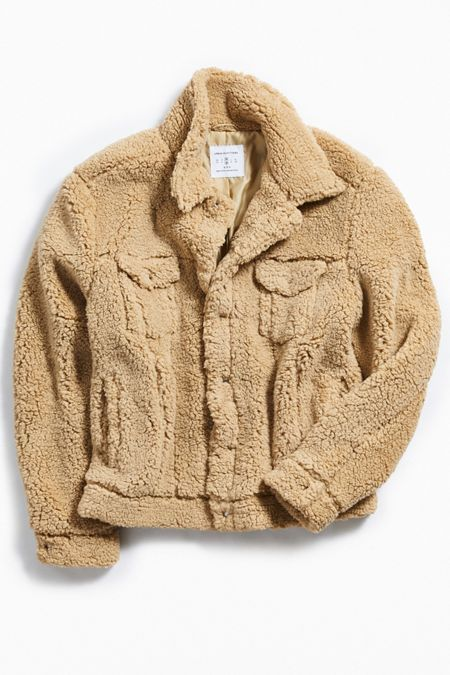 701d2ecb6 UO Sherpa Exterior Trucker Jacket   Urban Outfitters in 2019 ...