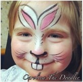 Cute bunny painted by Carolina The Doodler 2012