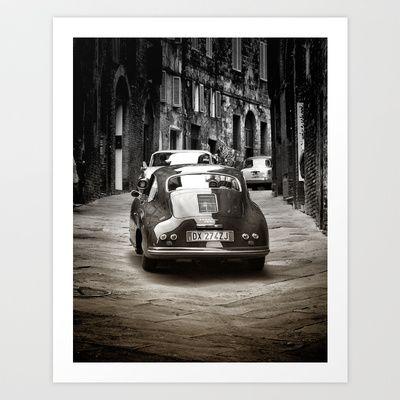 Vintage Porsche Art Print by Karen Lindale - $20.80