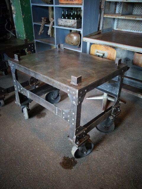 spectacular welding table design. Cool rivet looking welding table 129 best Industrial Art Furniture images on Pinterest