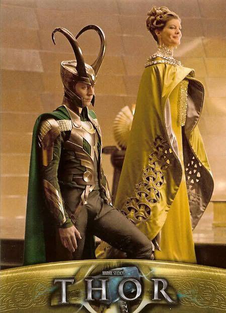 Loki and Frigga.... pinning because yes I love Loki, but Frigga= badass momma, and look how gorgeous she is <3