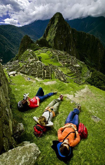 Taking a break on Machu Picchu, Peru