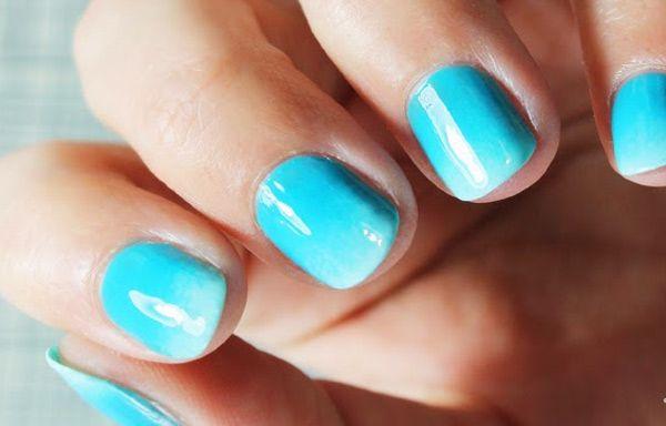M s de 25 ideas incre bles sobre u as cortas en pinterest - Unas azules decoradas ...