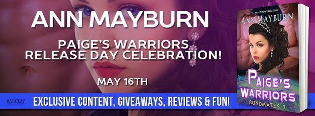 #NewRelease - Paige's Warriors (Bondmates #4) by Ann Mayburn - Release Day Celebration & #Giveaway