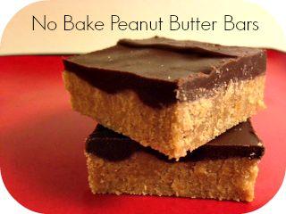 No Bake EASY & Delicious Peanut Butter Bars