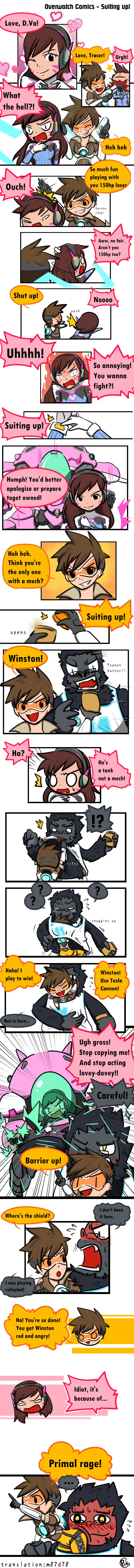 Overwatch Comics: Suiting up!