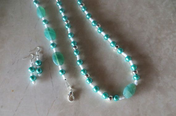 Vibrant #Turquoise Unique and Mixed-Matched Beaded #Jewelry Set by AlliFlair, $27.00 Free shipping worldwide with tracking number!