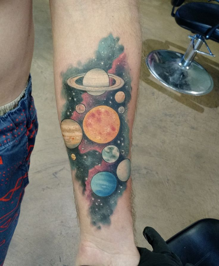 solar system by angela bailey at studio xiii cocoa beach fl space tattoos pinterest solar. Black Bedroom Furniture Sets. Home Design Ideas