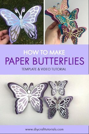 Butterfly SVG, 3D Butterfly svg, Printable Butterflies, Butterfly template, Butterfly wall decor ...