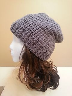This was a fun hat to create. I tried to do something a little different than just the normal way to make a slouchy and this hat is not only fast to make, but it is quite trendy.