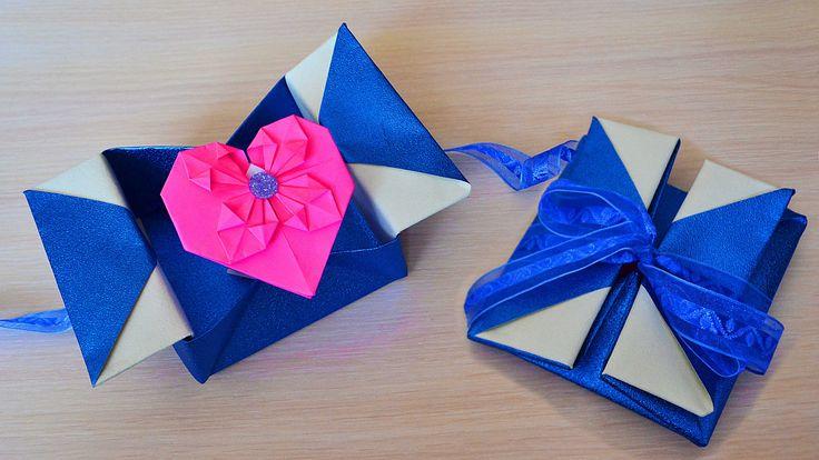 Фокус открытка оригами, анимация смотреть
