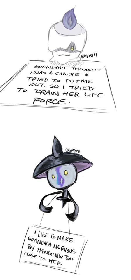 pokemon shaming lampent & litwick