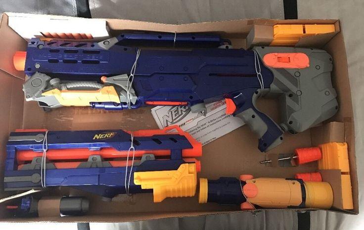 Nerf N-Strike Elite Longshot CS-6 Blue Version Bolt-Action Loading Blaster Toys #Nerf
