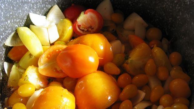 Gul stærk tomatketchup - Camilla Plum