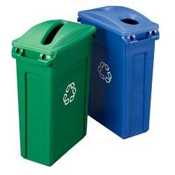 Amazon.com : RUBBERMAID Slim Jim Recycling Containers LID NOT INCLUDED - Blue : Wheelbarrows : Patio, Lawn & Garden