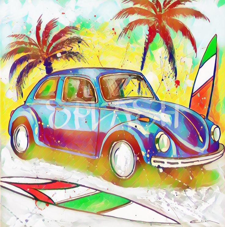 Cuadros vintage# cuadros de coches# cuadros de Volkswagen escarabajo# cuadros surferos# cuadros modernos# cuadros para muebles modernos# comprar cuadros# cuadros baratos# cuadros de coches# escarabajo surfero SP846