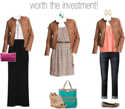 tan leather jacket - totally worth it!!