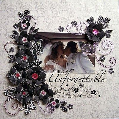 Loved the way this layout came out after I scraplifted it for @Eileen Vitelli Vitelli Wrobel's wedding album