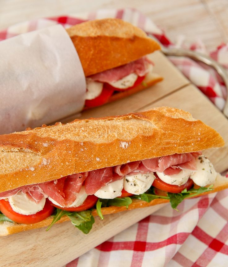 Caprese Prosciutto Sandwiches | The Daily Dish