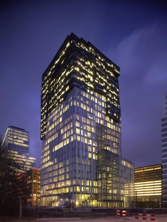The Rock, office tower Amsterdam Zuidas, by Erick van Egeraat  Simply love this beautiful building!